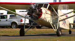 1931 Stinson SM-8A Taxi In MCU Stock Footage