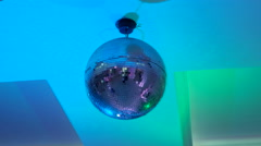Party lights disco ball Stock Footage