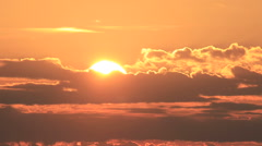 Sunrise timelapse. Sun rising through clouds. Time lapse, Big Stock Footage