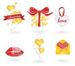 Valentines elements - stock illustration
