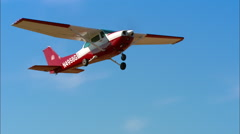 Cessna 172N Take Off - stock footage