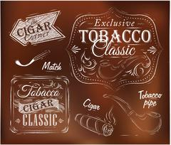 Collection tobacco brown Stock Illustration