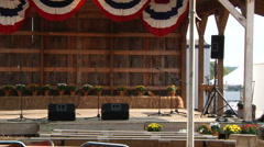 Zoom Out of Empty Stage At Fair - stock footage