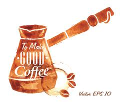 Turkish Coffee Pot - stock illustration