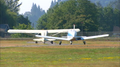 Cessna Aircraft Taxi with Heatwaves Stock Footage