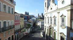 The historic centre of Salvador, Brazil Stock Footage