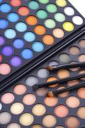 Makeup Eye Shadow Palette - stock photo
