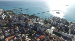 Aerial view of Salvador, Bahia, Brazil Stock Footage