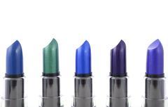 Modern makeup lipstick color range. - stock photo