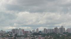 Clouds Time Lapse, City View, Buildings. Sao Paulo, Brazil - stock footage