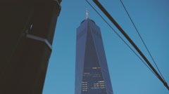 Spring time World Trade Center dolly shot - stock footage