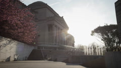 Brooklyn Museum afternoon establishing shot Stock Footage