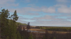 Flying Drone. Spring Nature Of Yakutia  Stock Footage