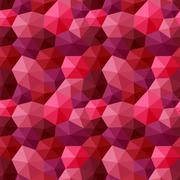Mixed hexagons three dimensional shading multicolor dark tones Stock Illustration