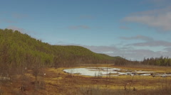 Flying Drone. Spring Nature Of Yakutia #4 Stock Footage