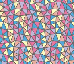 Soft edges triangles pastels colors repeat pattern Stock Illustration