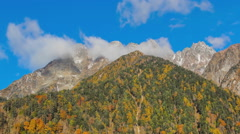 A beautiful landscape of mountains in the Altai (time-lapse) Stock Footage