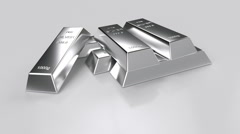 Rotating silver bars Stock Footage