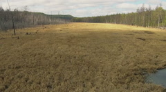 Flying Drone. Spring Nature Of Yakutia #11 Stock Footage