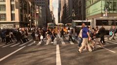 Slow Motion Pedestrians in Manhattan New Yorck Stock Video - stock footage