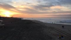 Sunrise Time Lapse/Huntington Beach, CA Stock Footage