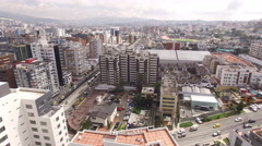 North Towards Olympic Stadium in Quito Stock Footage