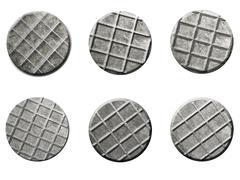Nail Heads Image isolated on white Stock Illustration