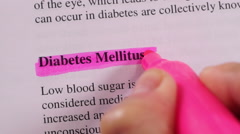 Medical Condition Highlighting Diabetes Stock Footage