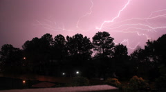 Storm, Multicell, Lightning, Night Stock Footage