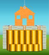 Hard Assets Net Worth - stock illustration