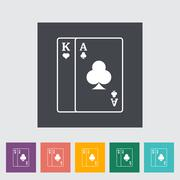 Play card icon - stock illustration