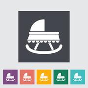 Cradle flat icon Stock Illustration