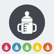 Feeding bottle vector flat icon - stock illustration