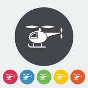 Helicopter vector flat icon Stock Illustration