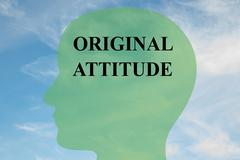 Original Attitude mind concept - stock illustration