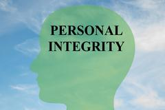 Personal Integrity mind concept - stock illustration