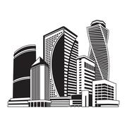 Buildings high-rise, cityscape Stock Illustration