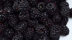 Fresh Blackberries on the breakfast table. Stock Footage