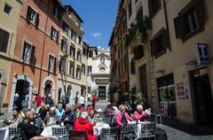 Italian snack bar in Rome - stock photo