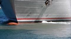 Ship's bow propeller closeup. Stock Footage