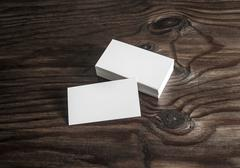 Blank mock-up of business cards - stock photo
