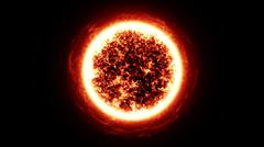 Sun in the space Stock Illustration