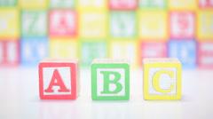 ABC blocks - stock footage