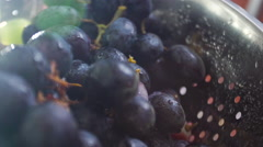 Fresh Grapes for breakfast. - stock footage