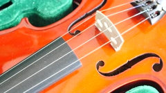Close-up of musician playing violin, classic music Stock Footage