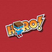 Great superhero cartoon Stock Illustration