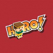 Great superhero mom Stock Illustration
