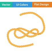 Flat design icon of rope Stock Illustration
