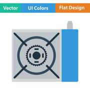 Icon of camping gas burner stove Stock Illustration