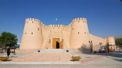 Hyperlapse of the Khujand fortress with blue sky Stock Footage